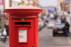 A British Post Box at the Post Office
