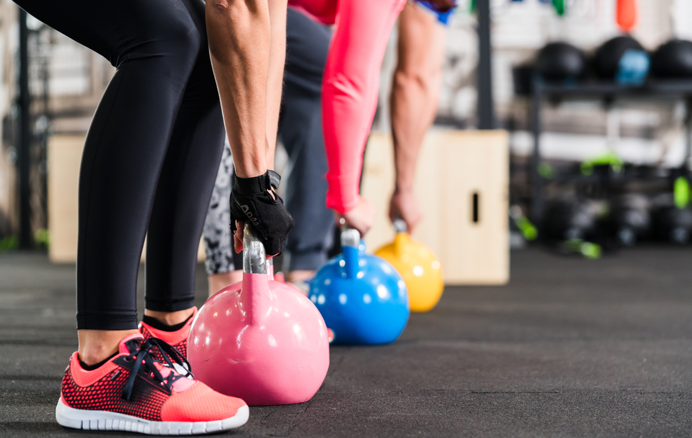Group workout at fitness first