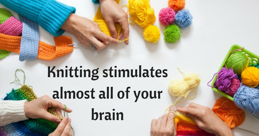 Knitting can help give your brain a workout